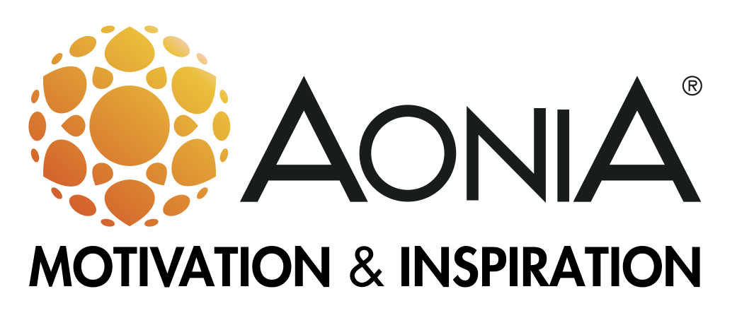 AONIA Logo with slogan